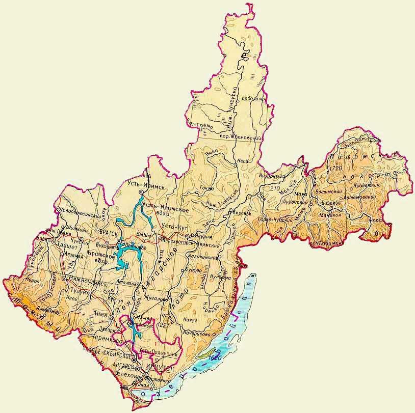 irkutsk map